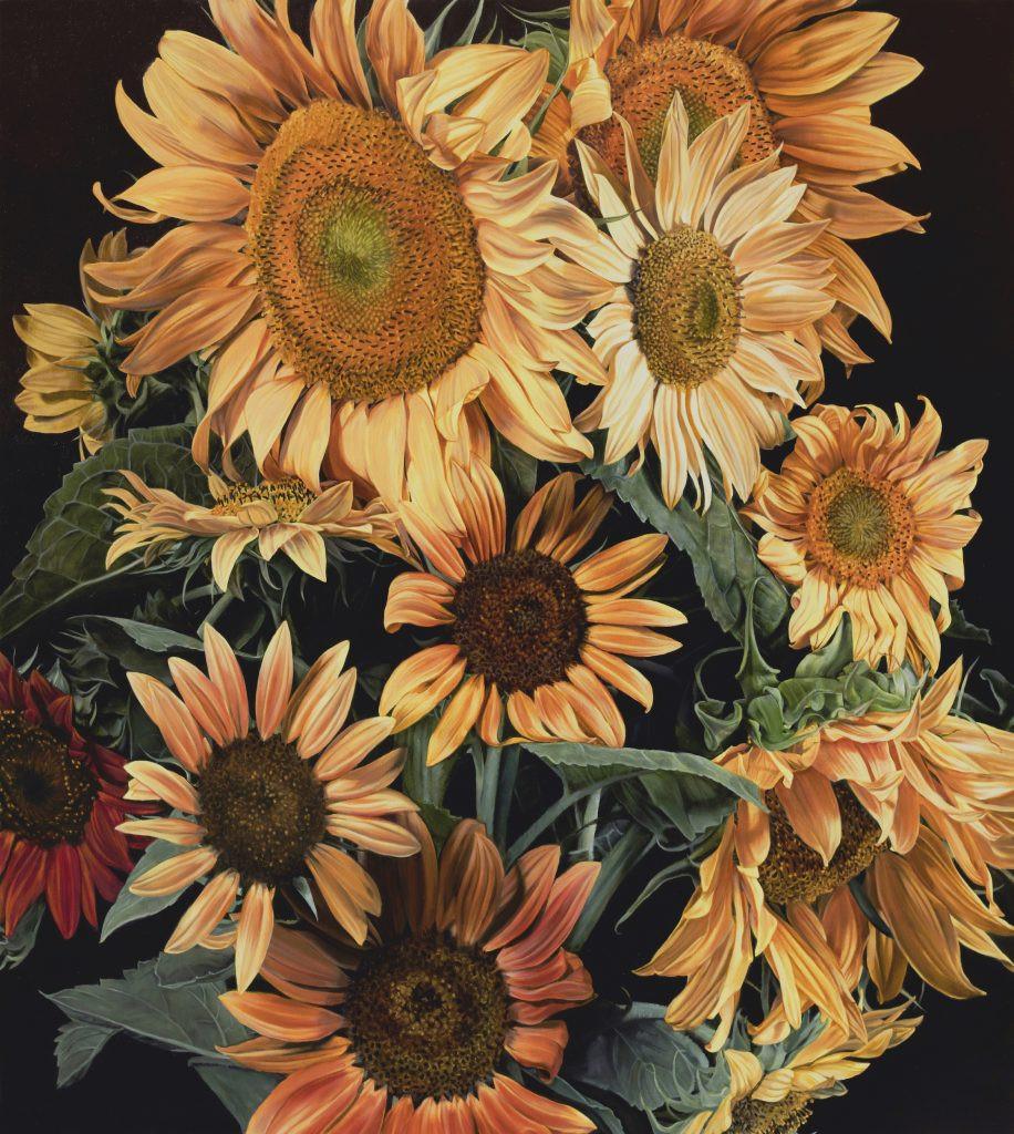 Marjorie's Sunflowers 122 X 122 cm